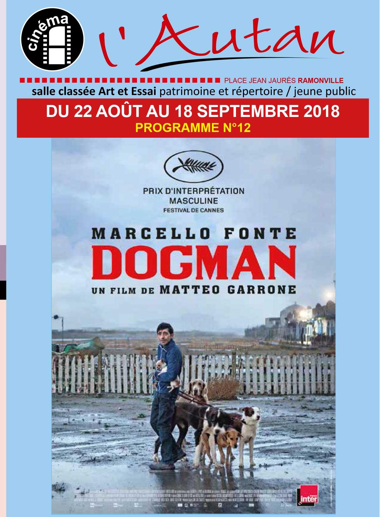 affiche cinéma l'Autan 09-2018